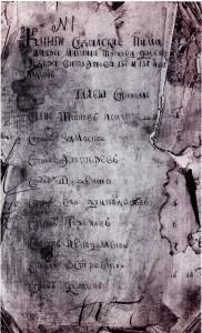 Титульный лист писцовых книг станов Суздальского уезда